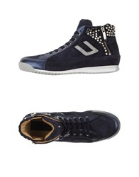 Cesare Paciotti 4Us Footwear High Tops And Trainers Women Dark Blue