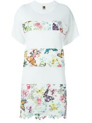 I'm Isola Marras Floral Embroidered Panel Dress White