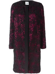 Si Jay Lace Overlay Coat Black