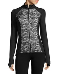 Karen Kane Lace Accented Active Jacket Black