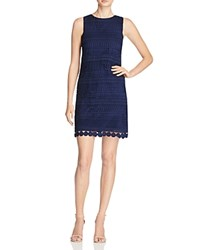Aqua Lace Shift Dress Navy