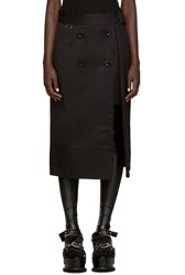 Sacai Black Trench Wrap Skirt