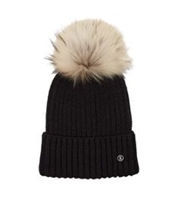 Bogner Removable Pom Pom Hat Black