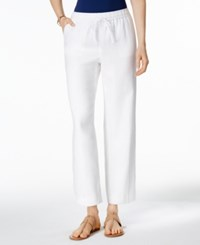 Charter Club Linen Pull On Pants Only At Macy's Bright White