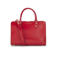 Lulu Guinness Women's Mini Daphne Polished Leather Tote Bag Red