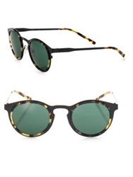 Kyme Miki Light 46Mm Round Sunglasses Black Green