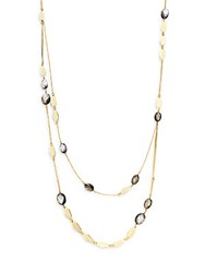 Saks Fifth Avenue Stella Ruby Layered Waterfall Necklace Gold