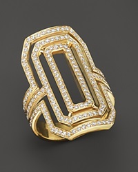 Bloomingdale's Diamond Art Deco Statement Ring In 14K Yellow Gold 1.0 Ct. T.W.