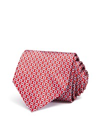 Bloomingdale's The Men's Store At Circle Oval Link Classic Tie Red