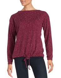 Alternative Apparel Waffle Knit Shirt Raspberry