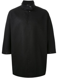 Thamanyah Oversized Polo Shirt Black