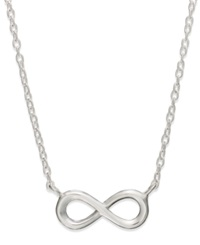 Unwritten Sterling Silver Mini Infinity Pendant Necklace