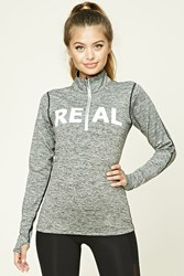 Forever 21 Active Real Graphic Pullover Charcoal