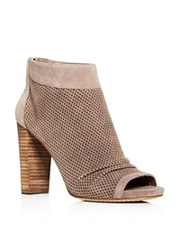 Vince Camuto Cosima Peep Toe High Heel Booties Brown