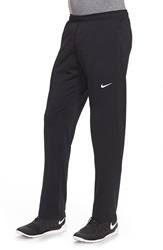 Nike 'Y20' Tapered Fit Dri Fit Running Stretch Pants Black Reflective Silver