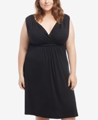 Motherhood Maternity Plus Size Nursing Nightgown Black
