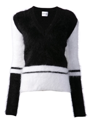 Atto Colourblock Sweater Black