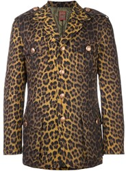 Jean Paul Gaultier Vintage Leopard Print Jacket Brown