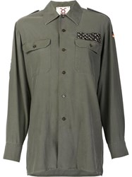 Figue Embellished Military Shirt Green