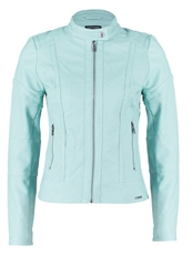 Guess Madeleine Faux Leather Jacket Green Abyss Mint