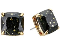 Kate Spade Small Square Studs Black Multi Glitter Earring