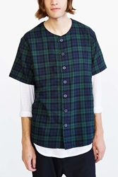 Unyforme Flannel Baseball Shirt Navy