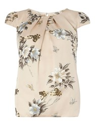 Dorothy Perkins Billie And Blossom Floral Shell Top White