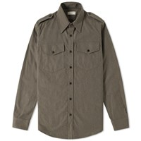 Dries Van Noten Chale Military Overshirt Green