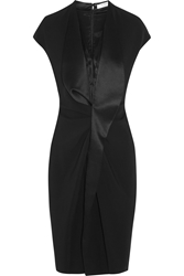 Givenchy Dress In Black Satin Trimmed Stretch Cady