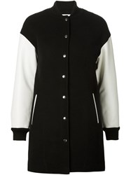 T By Alexander Wang Bomber Style Coat Black