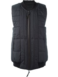 11 By Boris Bidjan Saberi Quilted Long Gilet Black