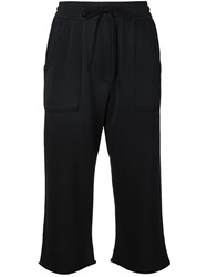 Raquel Allegra Cropped Track Pants Black