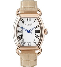 Links Of London Driver Ellipse Stainless Steel Watch Tan