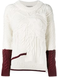 Preen By Thornton Bregazzi Cable Knit Jumper White