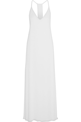 Alice Olivia Dove Crepe Maxi Dress Off White