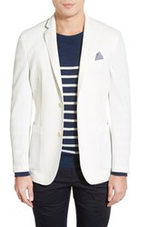 Men's Vince Camuto Slim Fit Stretch Knit Blazer White