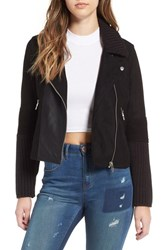 Blank Nyc Women's Blanknyc Faux Suede And Knit Moto Jacket