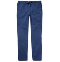 Hartford Cotton Twill Trousers Blue
