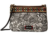 Sakroots Artist Circle Campus Mini Black White Spirit Desert Cross Body Handbags