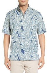 Reyn Spooner Men's 'Kalai' Regular Fit Print Short Sleeve Sport Shirt Navy