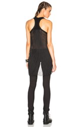 Superfine High Low Tank Top In Black