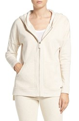 Uggr Women's Ugg 'Mavis' Stretch Cotton Zip Up Hoodie Cream Heather