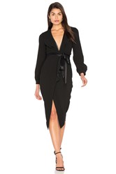 Becandbridge Roosevelt Long Sleeve Midi Dress Black