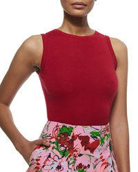 Carolina Herrera Cashmere Silk Sleeveless Sweater