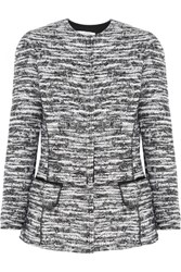 Oscar De La Renta Boucle Tweed Jacket Gray