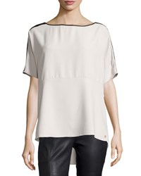 Marie Oliver Emilie Short Sleeve Dolman Blouse Cement Silver