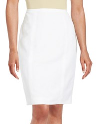 Calvin Klein Linen Blend Pencil Skirt White