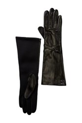 Vince Camuto Double Belted Leather Glove Black