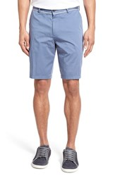 Men's Boss 'Clyde' Flat Front Stretch Cotton Shorts China Blue