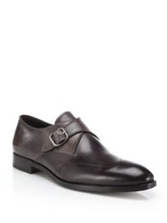 Fratelli Rossetti Perforated Monk Strap Shoes Brown